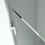 Possibilità di fissaggio a muro con cerniera (opzionale)