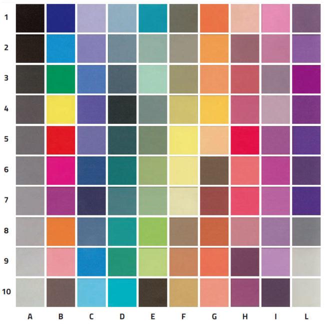 Campionario colori vetri